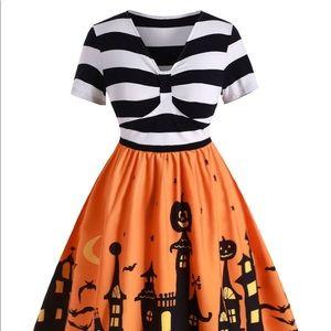 Cute Halloween haunted house dress